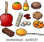 halloween candy hand drawn... | Shutterstock . vector #6230137