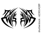 tattoo tribal vector designs.... | Shutterstock .eps vector #623014289