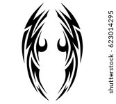 tattoo tribal vector designs.... | Shutterstock .eps vector #623014295