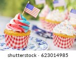 Red White And Blue Cupcakes...