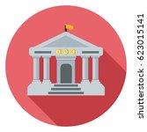 bank building icon | Shutterstock .eps vector #623015141