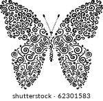 cute butterfly made of elements