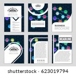 abstract vector layout... | Shutterstock .eps vector #623019794