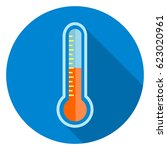 thermometer icon | Shutterstock .eps vector #623020961