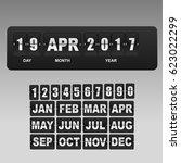 black flip scoreboard digital... | Shutterstock .eps vector #623022299