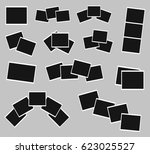 photo frames set collage | Shutterstock .eps vector #623025527