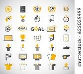 soccer  football  icons set.... | Shutterstock .eps vector #623029499