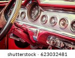 inside of a vintage classic... | Shutterstock . vector #623032481