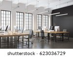 side view of an open space... | Shutterstock . vector #623036729