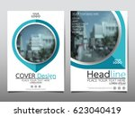 blue flyer cover business... | Shutterstock .eps vector #623040419