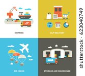 worldwide shipping logistics...   Shutterstock .eps vector #623040749