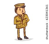 general. military  leadership ... | Shutterstock .eps vector #623041361