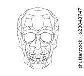 skull stylized triangle... | Shutterstock .eps vector #623048747