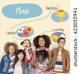 activity plan inspire children... | Shutterstock . vector #623055941