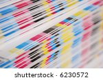 cmyk color bars on printed... | Shutterstock . vector #6230572