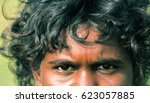 Small photo of NORTHERN TERRITORY, AUSTRALIA - MAY 13 2009: A portrait of a young aboriginal boy.