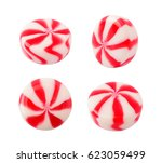 caramel striped candy set... | Shutterstock . vector #623059499
