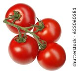 Vine Ripened Tomatoes On Stalk...
