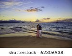 senior couple walking on a maui ... | Shutterstock . vector #62306938