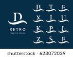 abstract logo design. modern... | Shutterstock .eps vector #623072039