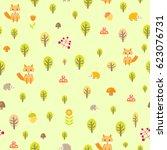 cute seamless childlike pattern ...   Shutterstock .eps vector #623076731