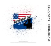 memorial day. remember and...   Shutterstock .eps vector #623077469