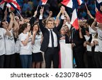 paris  france   april 17  2017  ... | Shutterstock . vector #623078405