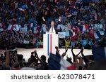 paris  france   april 17  2017  ... | Shutterstock . vector #623078471