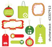 Red And Green Christmas Tags ...