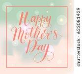 vector card design with... | Shutterstock .eps vector #623081429