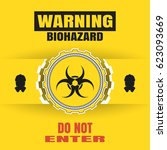 vector poster of biohazard... | Shutterstock .eps vector #623093669