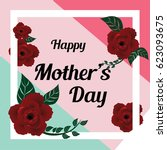 happy mother's day layout... | Shutterstock .eps vector #623093675