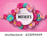 happy mother's day calligraphy... | Shutterstock .eps vector #623094449