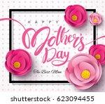 happy mother's day calligraphy... | Shutterstock .eps vector #623094455