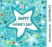 happy father's day card.... | Shutterstock . vector #623098625