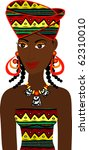 Raster version of African Girl Avatar. See others in this series. - stock photo
