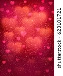 heart background with cloud of... | Shutterstock .eps vector #623101721