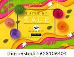 summer sale background cut...