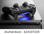 playstation 4 gaming console | Shutterstock . vector #623107235