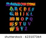 colorful funny 3d font for... | Shutterstock . vector #623107364