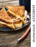 grilled cheese sandwich   Shutterstock . vector #623108435