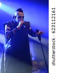 Small photo of Berlin, Berlin / GERMANY October 23, 2016: Gothic Rock band ASP from Frankfurt am Main, Germany, giving concert in Berlin Huxsleys Neue Welt. Vocalist Alexander Frank Spreng
