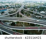 highway road form top view