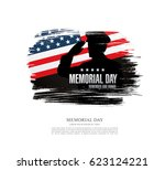 memorial day. remember and... | Shutterstock .eps vector #623124221