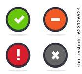 vector status icon set | Shutterstock .eps vector #623126924