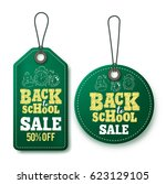 back to school sale vector... | Shutterstock .eps vector #623129105
