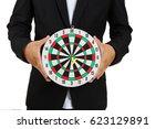 business goals business man... | Shutterstock . vector #623129891