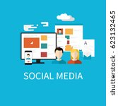 business infographic and... | Shutterstock .eps vector #623132465