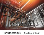 equipment  cables and piping as ... | Shutterstock . vector #623136419