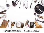 various kitchen utensils | Shutterstock . vector #623138069